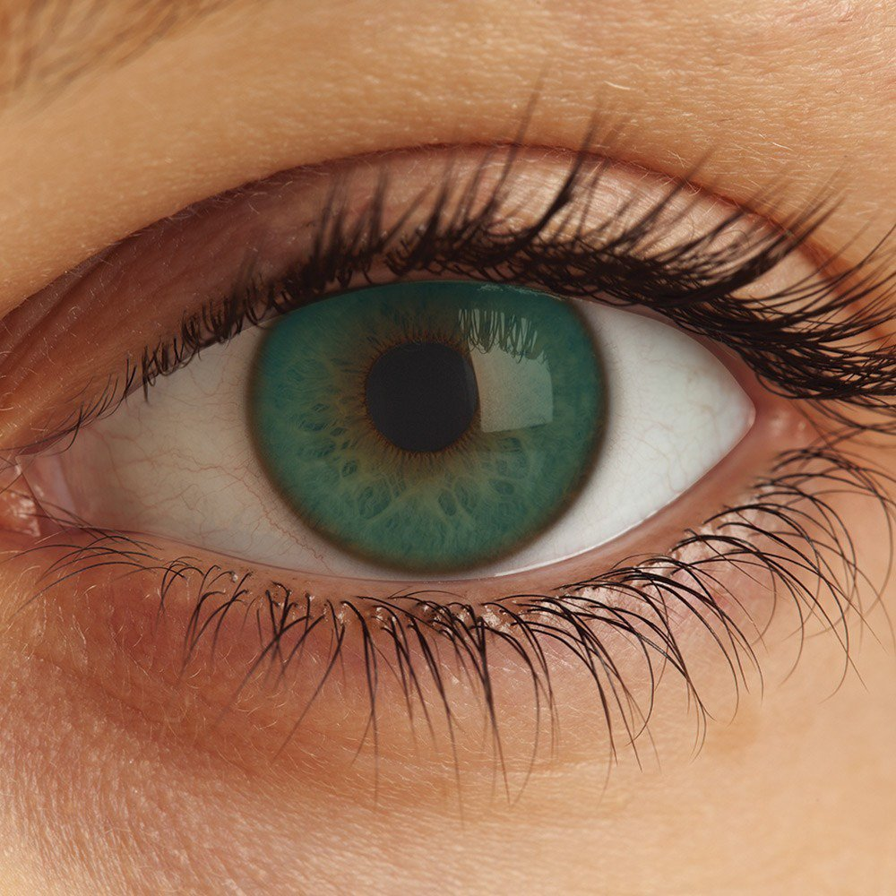 Lentes Optima Natural Look Green Turquoise Sem Grau,Bausch e Lomb