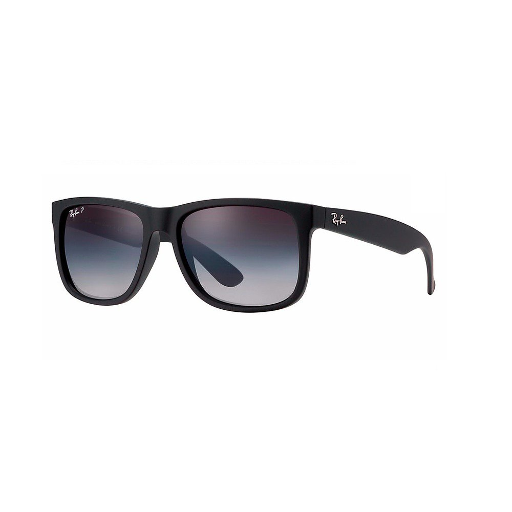Ray-Ban RB4165L 622/T3 55 Justin - Black Rubber Polarized,Ray-Ban