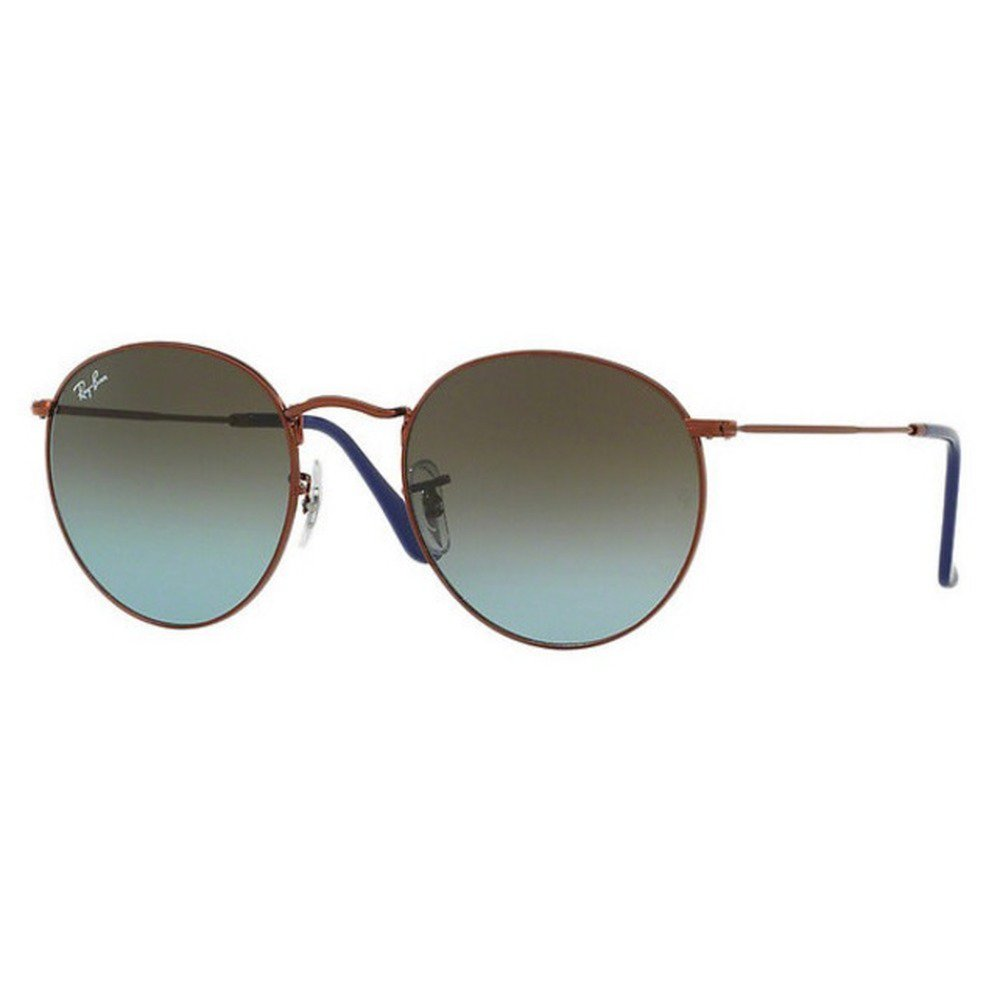 Ray-Ban RB3447 900369 53 Round - Shiny Dark Bronze/Blue Brown Gradient,Ray-Ban