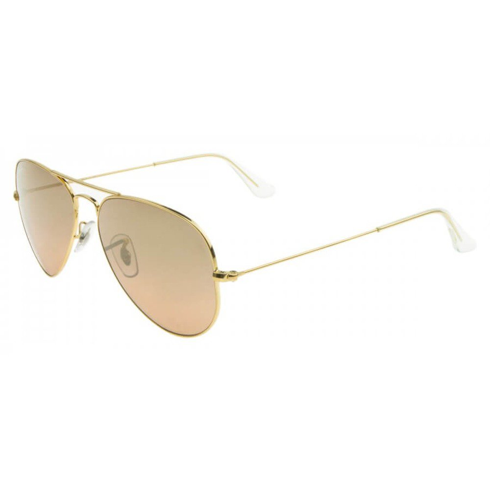 Ray-Ban RB3025L 001/3E 55 Aviator - Gold/Silver Pink Mirror,Ray-Ban