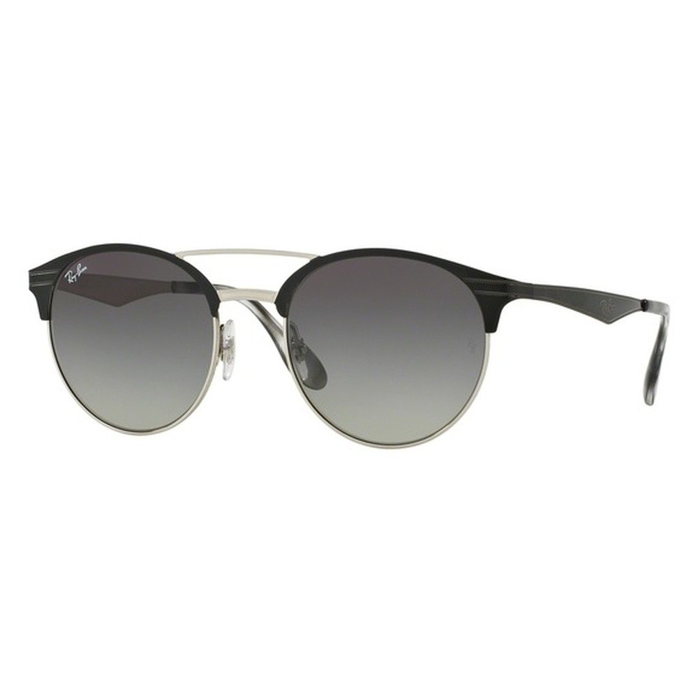 Ray-Ban RB3545 900411 54 Round - Top Black On Silver/Gray Gradiente,Ray-Ban