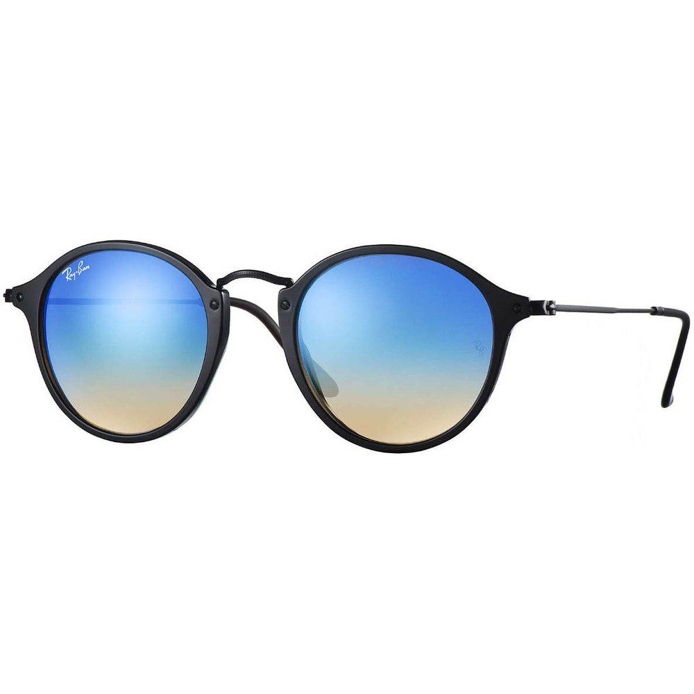9b6179e573a5f Ray-Ban RB2447 901 4O 49 Round Fleck - Black Blue Gradient Flash ...