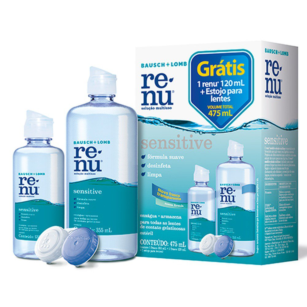 ReNu Sensitive® Multiuso Packon,Bausch e Lomb