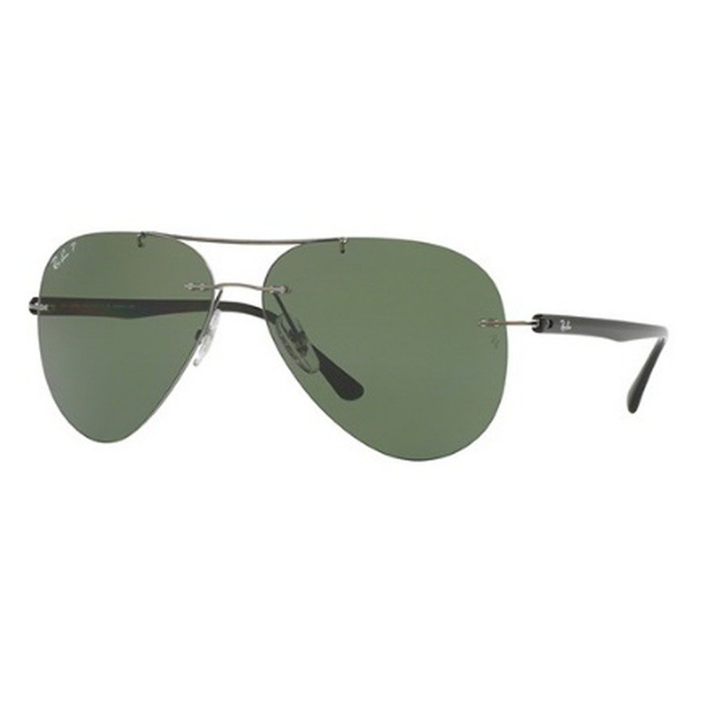 Ray-Ban RB8058 004/9A 59 Aviator - Gunmetal Grey/Green Polarized,Ray-Ban