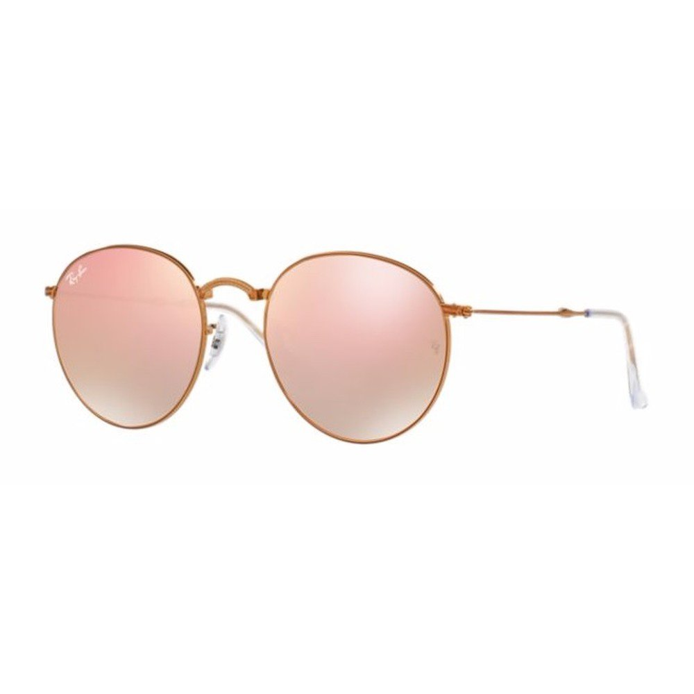 Ray-Ban RB3532 198/7Y 50 Round Metal Dobrável - Bronze/Copper Flash,Ray-Ban