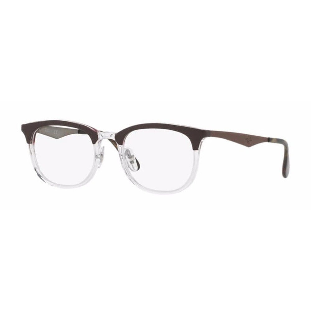 Ray-Ban RB7112 5685 53 Clubmaster - Marrom Transparente,Ray-Ban