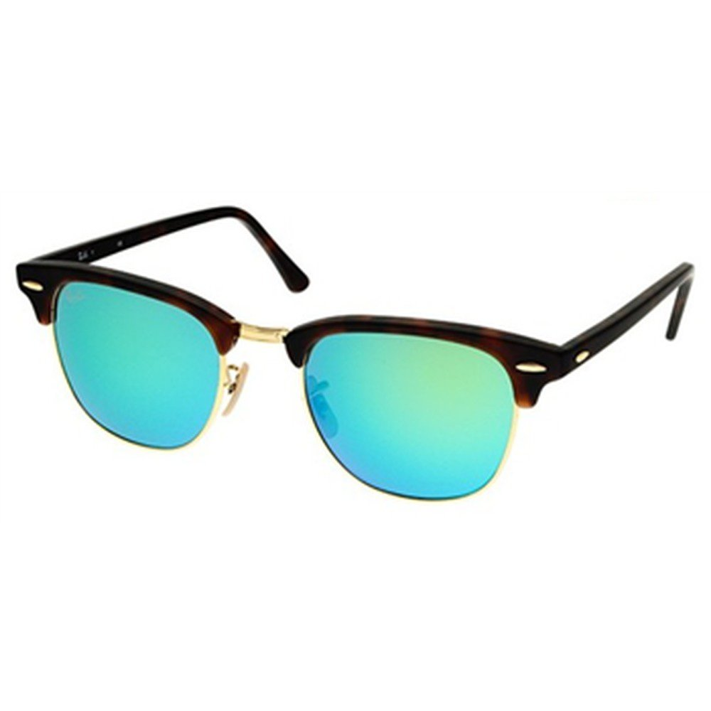 Ray-Ban RB3016 114519 51 Clubmaster - Brown Gold/Green,Ray-Ban