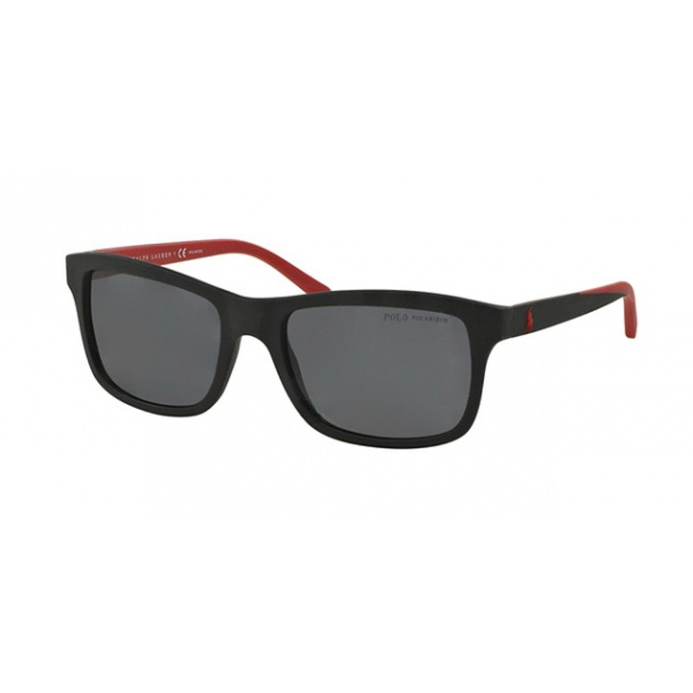 Polo Ralph Lauren PH4095 550481 57 - Matte Black/Gray Polarized,POLO RALPH LAUREN