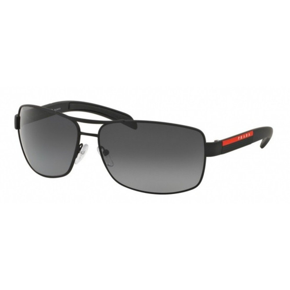 Prada PR54IS DG05W1 65 Linea Rossa - Black Rubber/Gray Polarized,PRADA