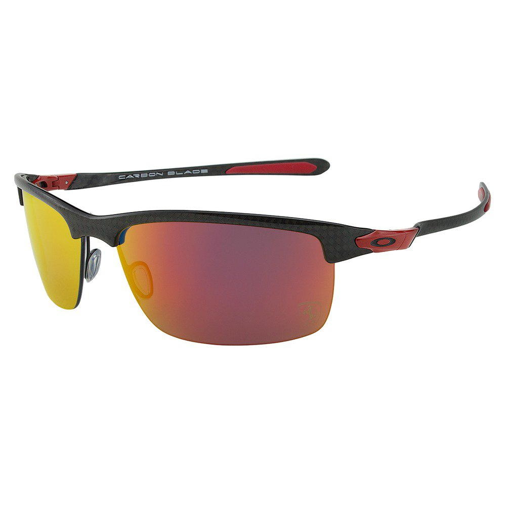 OakIey Carbon Blade Ferrari OO197406 6610 - Polished Carbon/Ruby Iridium Polarized,