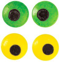 Large Spooky Candy Eyeballs Green/Yellow - Wilton
