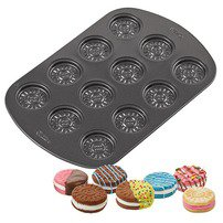 12-Cavity Sandwich Cookie Pan - Wilton