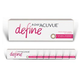 1-Day Acuvue combo 8 caixas Define Shimmer (efeito realce médio)