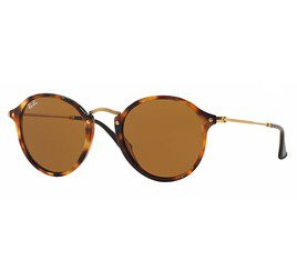 Ray-Ban RB2447 1160 49 Round Fleck - Tortoise/Brown B-15