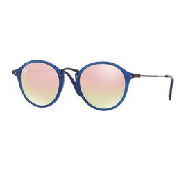 Ray-Ban RB2447N 62547O 49 Round - Blue/Copper Flash Gradient