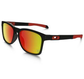 Oakley Catalyst OO927207 5617 Ferrari - Matte Black/Ruby Iridium