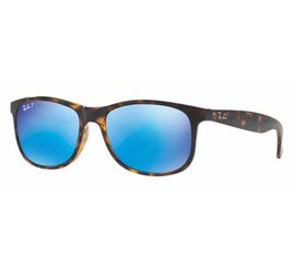 Ray-Ban RB4202 710/9R 55 Andy - Tortoise/Polarized Blue Flash