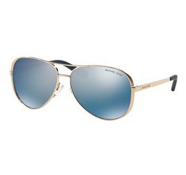 Michael Kors Chelsea MK5004 100322 59 - Rose Gold/Blue Mirror Polarized