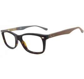 Ray-Ban RB5228 5545 53 Tartaruga/Marrom - Highstreet