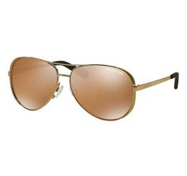 Michael Kors Chelsea MK5004 10042T 59 - Dourado/Gold Brown Mirror Polarized