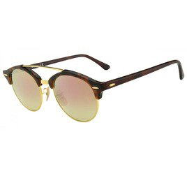 Ray-Ban RB4346 990/7O 51 Clubround - Tortoise/Gold