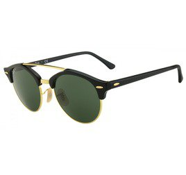 Ray-Ban RB4346 901 51 Clubround - Black/Gold