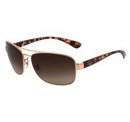 Ray-Ban RB3518L 001/13 63 Highstreet - Gold/Brown