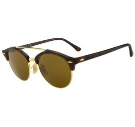 Ray-Ban RB4346 990/33 51 Clubround - Tortoise/Gold