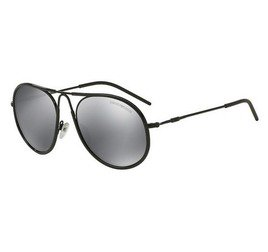 Emporio Armani EA2034 30146G 54 Aviator - Black/Gray Mirror Black