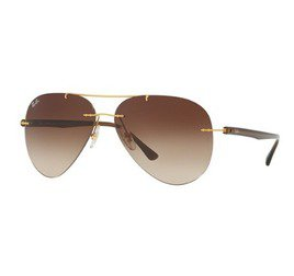 Ray-Ban RB8058 157/13 59 Aviator Tech - Brushed Gold/Brown Gradient