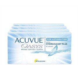 Acuvue Oasys p/ Astigmatismo Combo 4 Caixas