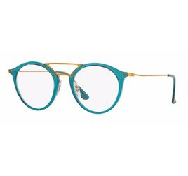 Ray-Ban RB7097 5632 49 Round - Blue/Bronze