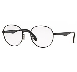 Ray-Ban RB6343 2509 50 Round Metal - Preto Brilho