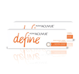 1-Day Acuvue combo 2 caixas Define Natural Shine (efeito realce forte)