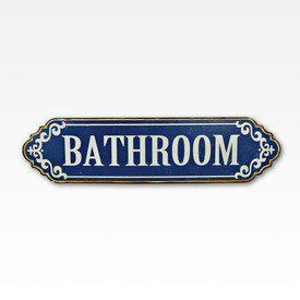 Placa em metal Bathroom