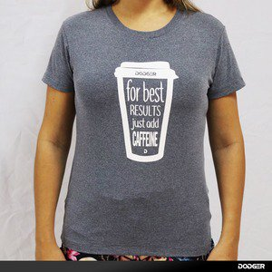 Camisa Feminina DODGER ADD Caffeine - Grey