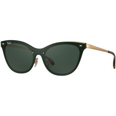 Ray-Ban Blaze Cat Eye RB3580N 043/71 43 - Gold/Green Classic,Ray-Ban