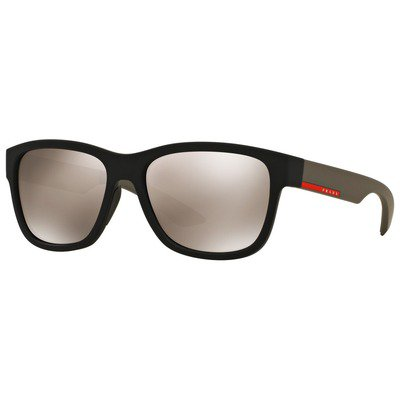 Prada Linea Rossa PS03QS DG01C0 57 - Black Rubber/Light Brown Mirror Gold,PRADA LINEA ROSSA