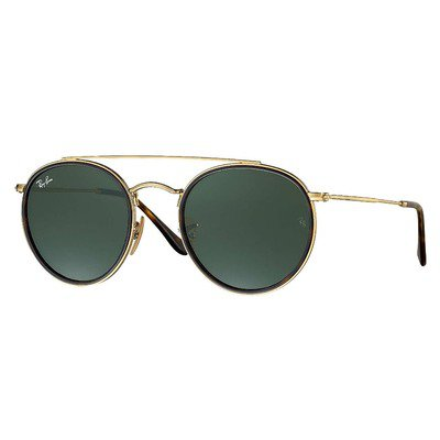 Ray-Ban RB3647N 001 51 Round - Gold/Green Classic G-15,Ray-Ban
