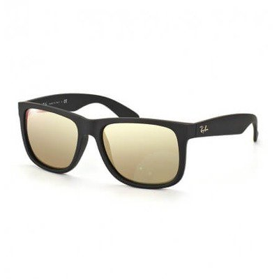 Ray-Ban RB4165L 622/5A 55 Justin - Matte Black/Gold Mirror,Ray-Ban