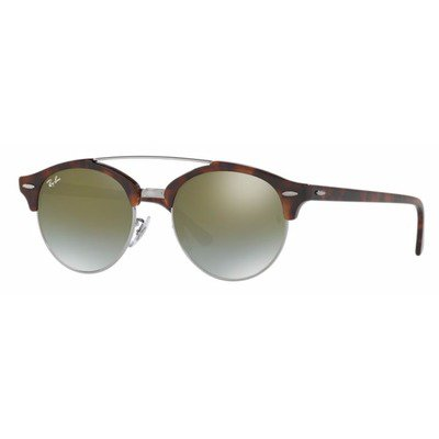 Ray-Ban RB4346 62519J 51 Clubround - Tortoise/Green Flash,Ray-Ban