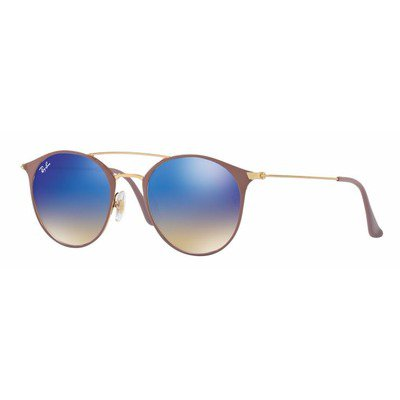 Ray-Ban RB3546 90118B 52 Round - Gold Light Browns/Blue Flash Gradient,Ray-Ban