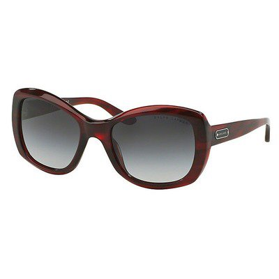 Ralph Lauren RL8132 55228G 55 - Stripped Red Havana/Gray Gradient,RALPH LAUREN