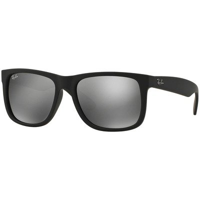 Ray-Ban RB4165L 622/6G 55 Justin - Black/Grey Mirror,Ray-Ban