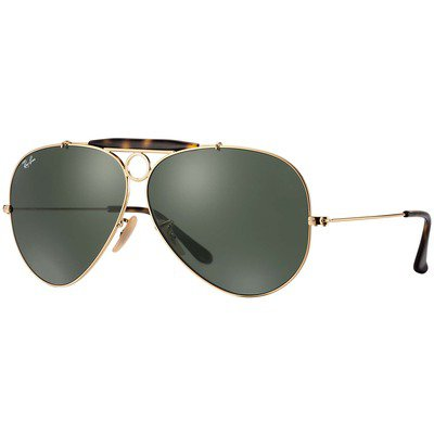 Ray-Ban Shooter RB3138 181 62 - Gold/Green Classic G-15,Ray-Ban