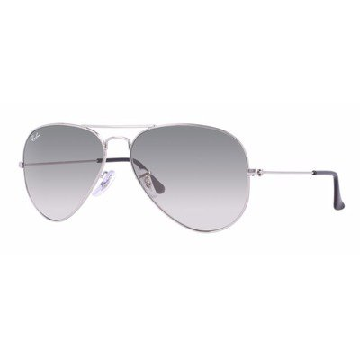 Ray-Ban RB3025 003/32 58 Aviator - Silver/Light Grey Gradient,Ray-Ban