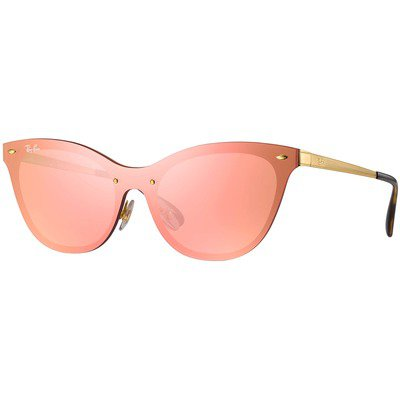 Ray-Ban Blaze Cat Eye RB3580N 043/E4 43 - Gold/Pink Mirror,Ray-Ban