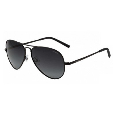 Polaroid PLD1017S 003 WJ 60 Aviator - Matte Black/Gray Gradient Polarized,POLAROID