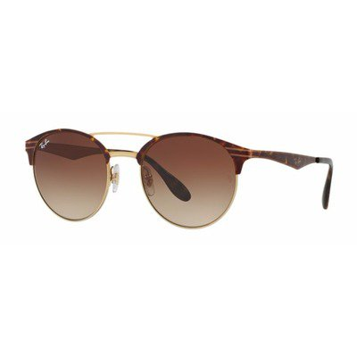 Ray-Ban RB3545 900813 54 Clubround - Tortoise/Brown Degradê,Ray-Ban