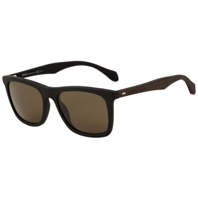 Hugo Boss BOSS 0776/S RAJ SP 54 - Matte Black/Brown,BOSS by HUGO BOSS